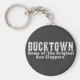 Bucktown Brooklyn Basic Round Button Keychain