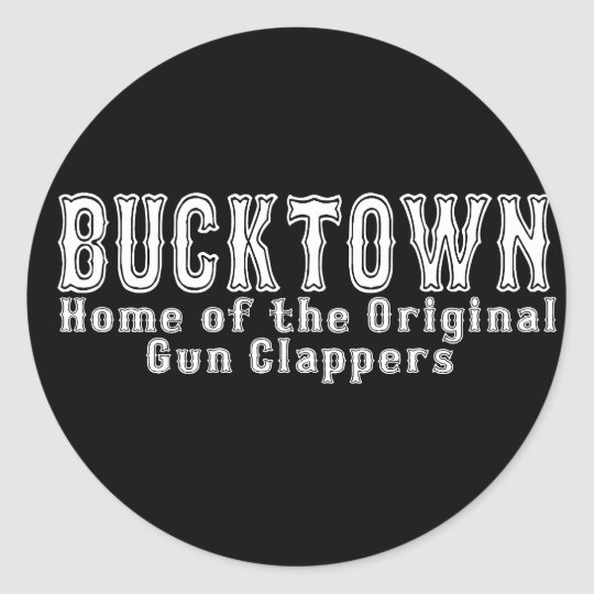 Bucktown Brooklyn Classic Round Sticker