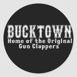 Bucktown Brooklyn Pegatina Redonda