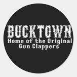 Bucktown Brooklyn Pegatinas Redondas