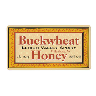 Buckwheat Honey Jar Customized Label