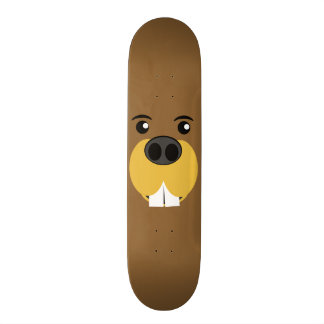 Bucky Beaver Face Skateboard