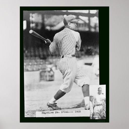 Bucky Harris Senators Baseball 1925 Poster