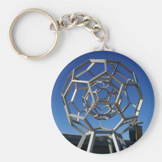 Buckyball Sculpture Keychain