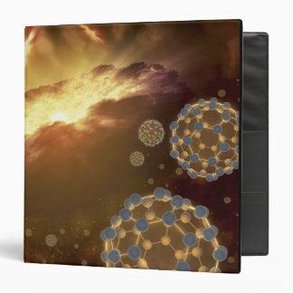 Buckyballs floating in interstellar space binder
