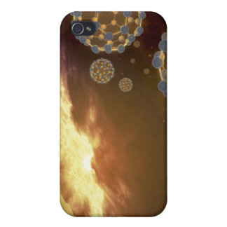 Buckyballs floating in interstellar space iPhone 4 case