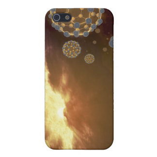 Buckyballs floating in interstellar space cases for iPhone 5