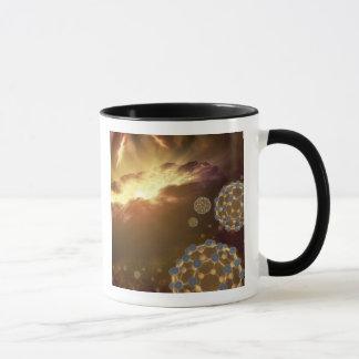 Buckyballs floating in interstellar space mug