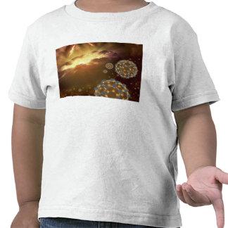 Buckyballs floating in interstellar space shirts