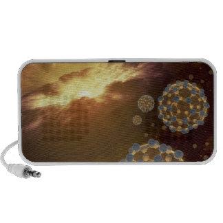 Buckyballs floating in interstellar space mp3 speakers