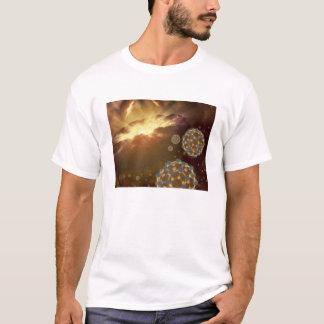 Buckyballs floating in interstellar space T-Shirt