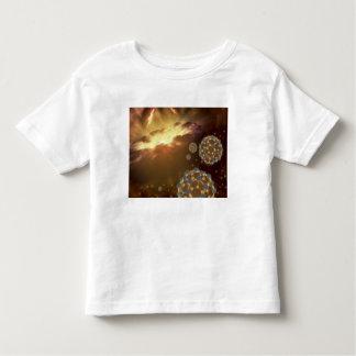 Buckyballs floating in interstellar space toddler t-shirt