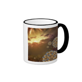Buckyballs que flota en espacio interestelar tazas de café