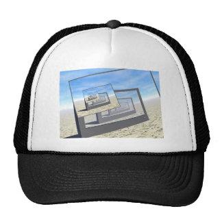 Bucle infinito de los monitores surrealistas gorras de camionero