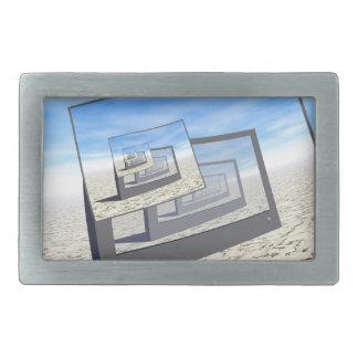 Bucle infinito de los monitores surrealistas hebilla cinturón rectangular