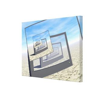 Bucle infinito de los monitores surrealistas lona estirada galerías