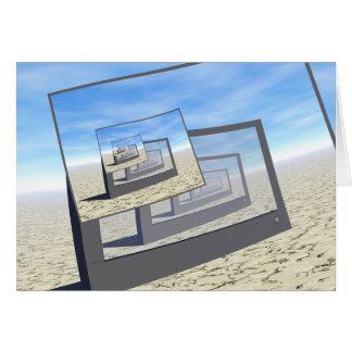 Bucle infinito de los monitores surrealistas tarjeta de felicitación