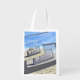 Bucle infinito de los monitores surrealistas bolsas para la compra