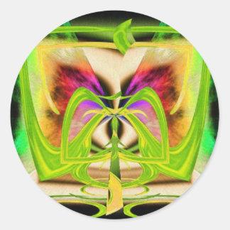 Bucle temporal pegatinas redondas