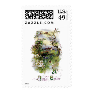 Bucolic Farm in Bloom Vintage Easter Stamps