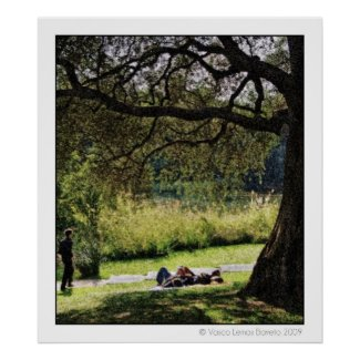 Bucolic park 001 poster