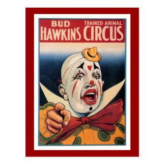 Bud Hawkins Vintage Circus Postcard