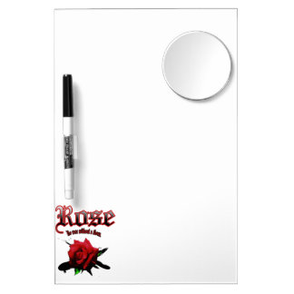 Bud of the red rose penciled Dry-Erase board