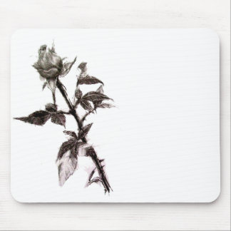 Bud of the rose penciled mouse pad