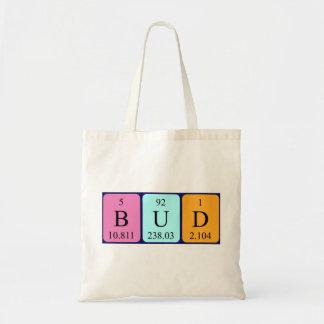 Bud periodic table name tote bag