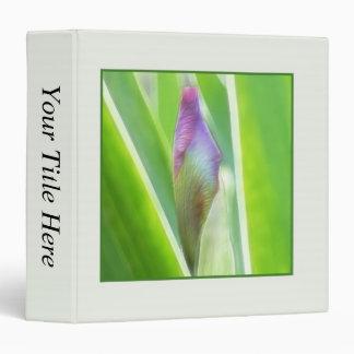 Bud To Bloom - Iris 3 Ring Binder