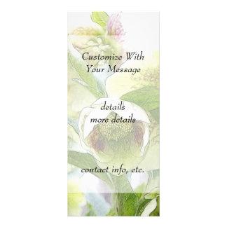 Bud To Blossom - White Hellebores Custom Rack Cards