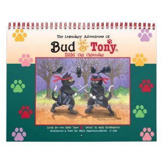 Bud & Tony 2016 Legendary Cat Calendar