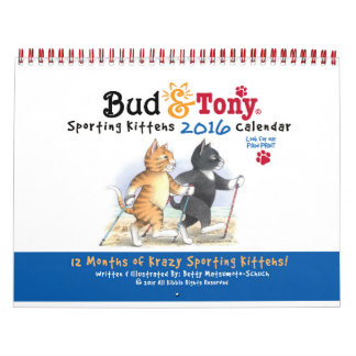 Bud & Tony Sporting Kittehs 2016 Calendar