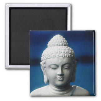 Buda - aclarado imán cuadrado