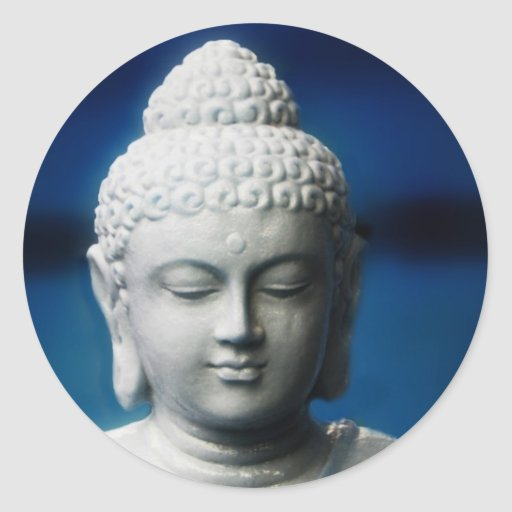 Buda - aclarado pegatina redonda