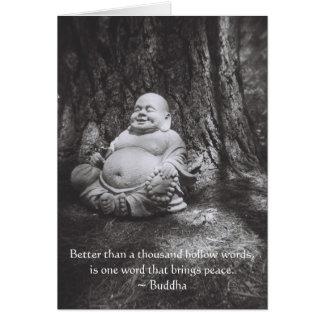 Buda alegre - cita de Buda Tarjetas