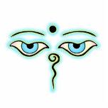 Buda amarillo azul claro Eyes.png Escultura Fotografica
