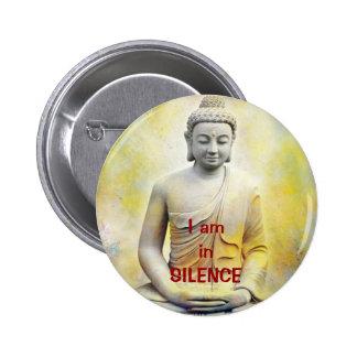 Buda amarillo, soy inSILENCE Pin Redondo 5 Cm