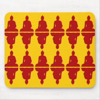 Buda amarillo y rojo Mousepad Alfombrillas De Ratones