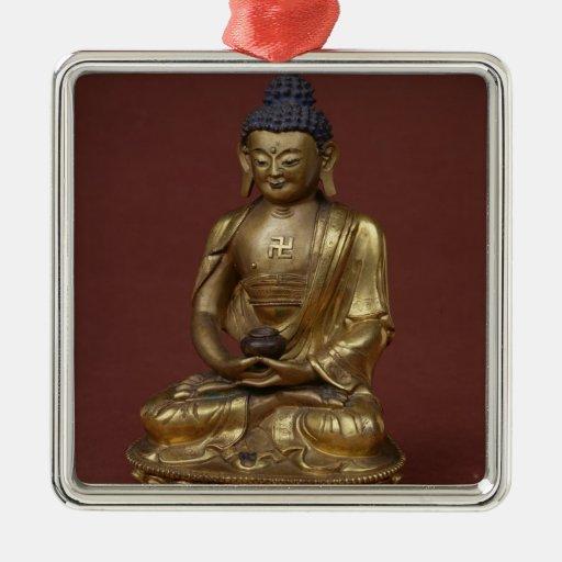 Buda Amitayus asentado en la meditación Ornaments Para Arbol De Navidad