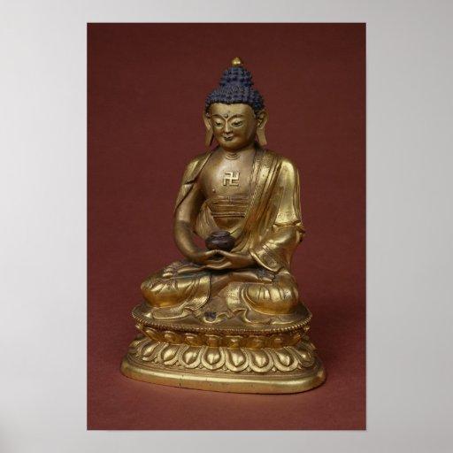 Buda Amitayus asentado en la meditación Impresiones