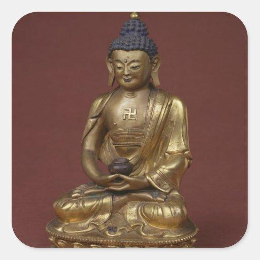 Buda Amitayus asentado en la meditación Colcomania Cuadrada