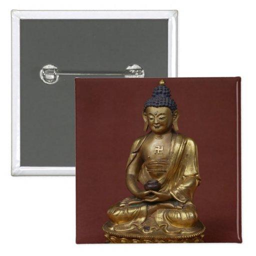 Buda Amitayus asentado en la meditación Pins