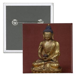 Buda Amitayus asentado en la meditación Pin Cuadrado