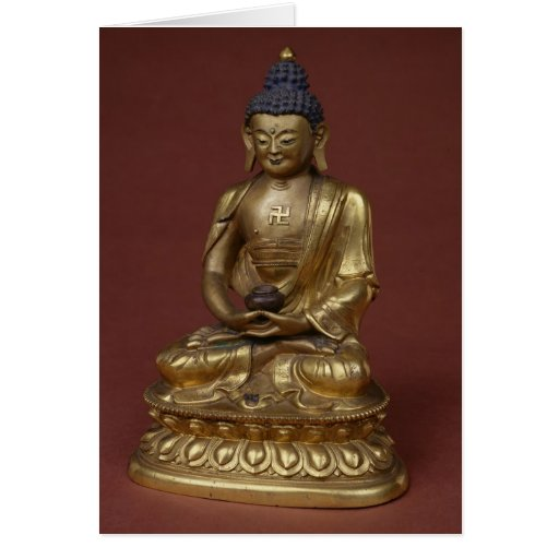 Buda Amitayus asentado en la meditación Tarjeton