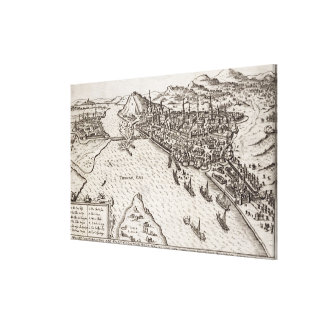 Buda and Pest Besieged by the Christians in 1602, Canvas Print
