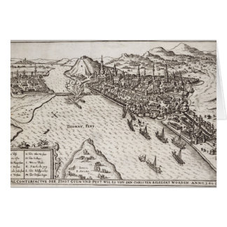 Buda and Pest Besieged by the Christians in 1602, Card