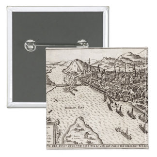 Buda and Pest Besieged by the Christians in 1602, Pinback Button