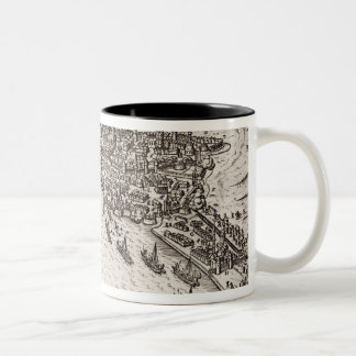 Buda and Pest Besieged by the Christians in 1602, Two-Tone Coffee Mug