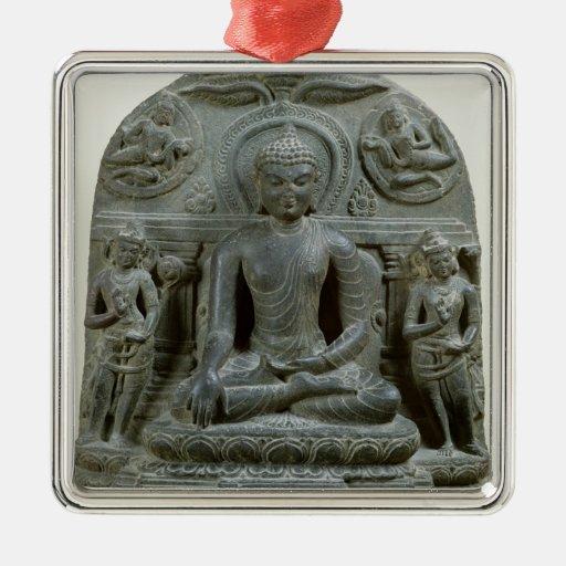 Buda asentado en la meditación ornaments para arbol de navidad